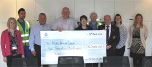 The VEKA UK Group proudly presents biggest ever charity cheque