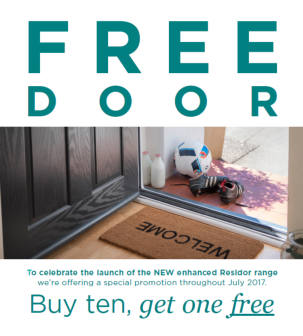 The most secure GRP door…FREE in July!