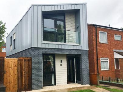 Shelforce plays part in Birmingham's first modular home