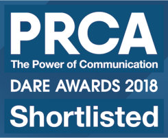 Brouha Shortlisted for PRCA DARE Awards