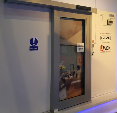 New PAS24 Automatic Sliding Door System from Jack Aluminium