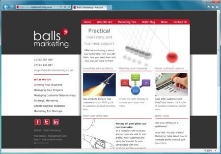 <br />Balls2 Marketing website