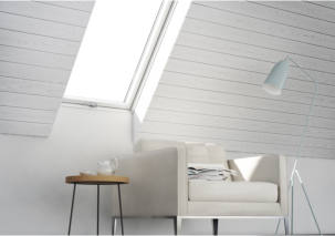 New white painted roof window is a more profitable alternative for builders
