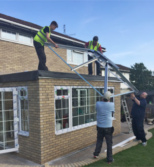 Make conservatory roof replacement easy with Modplan