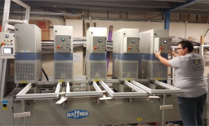 SMR 5 Welder from Haffner Murat helps Right Price PVCu increase output by over 50