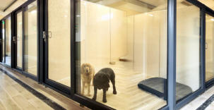 PatioMaster doors give the VIP touch to a VIP dog hotel