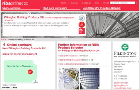 <br />Pilkington has unveiled four new RIBA (Royal Institute of British Architects) approved online CPDs (Continuing Professional Development).