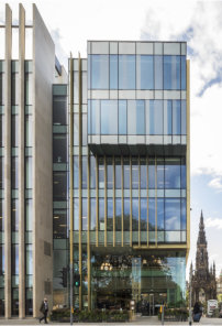 New development's modern glazing perfectly reflects historic Edinburgh setting
