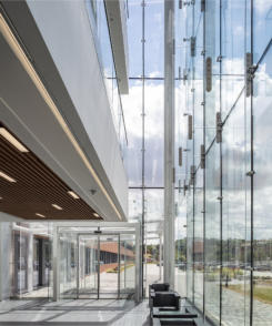 Pilkington UK delivers glass centre piece in Aldi HQ makeover